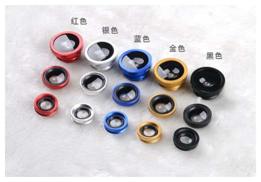 23D8 3 In 1 Fish Eye Wide Angle Macro Camera Lens Kit For Cell Mobile Phone