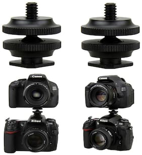 "2PCS 1/4""-20 Tripod Screw to Flash Hot Shoe Mount Adapter for DSLR Cameras"