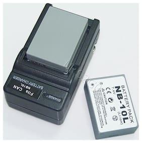2x 1360mAh NB-10L Battery Desktop Charger For Canon PowerShot SX50 HS Camera USA