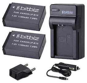 2x LP E12 LPE12 Li ion Battery+Charger for Canon Rebel SL1 EOS M 100D M2 Camera