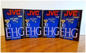 4 JVC TC-30 Compact VHS EHG 90 Min High Energy Camcorder Tapes New