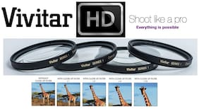 4-Pc Close Up Macro +1+2+4+10 Lens Kit Fot Pentax K-3 K-3 II (For 18-135mm Lens)