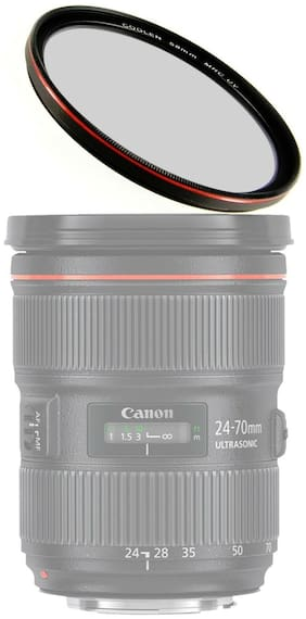 52mm MRC Ultra Thin Multi-coated UV Filter w/ Outer Frame Red Plating + Case