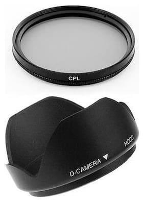 52mm Thumb Drive Lens Hood,CPL Filter for NIKON Digital D90 D700 D60 Camera NEW