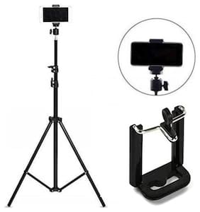 Crystal Digital 7 feet (84 in) Large Flexible Tripod Comes with 360-degree rotate head and adjustable mobile clip holder