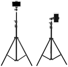 I-Birds Enterprises 7 Feet Portable Tripod Stand for Professional Photographer & Digital Work Like Self Video Shoot Youtuber Photo Studio Compatible with All Kind of Mobiles & Cameras Tripod