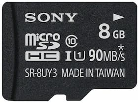 8GB - SONY Class 10 micro SDHC SD SDHC 90MB/s Flash Memory Card SR-8UY3A/TQ