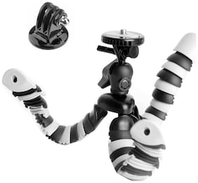 ActionPro 4-in-1 8 Flexible Mini Octopus Gorillapod Tripod for iPhone Samsung + Monopod Adapter + Screw + GoPro Sony SJCAM Xiaomi Yi Tripod Selfie Stand Holder