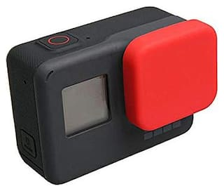 Action Pro Silicone Protective Lens Cap for GoPro Hero 5/6/7/2018 Black Action Camera Protector for GoPro Accessories (Red)