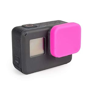 Action Pro Silicone Protective Lens Cap for GoPro Hero 5/6/7/2018 Black Action Camera Protector for GoPro Accessories (Pink)