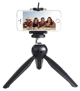 Aeoss Adjustable Mini Tripod Smartphone Camera Stand with Mobile Bracket Holder Compatible with All Android and iOS Devices