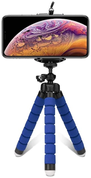 Aeoss Flexible Octopus Foldable Gorilla Tripod for Camera, DSLR and Smartphones with Universal Mobile Attachment (Blue)