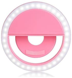 Afrodive  Crystal Digital Rechargeable Selfie Ring Light Night LED Selfie Flash Light for Smartphones