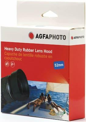 AGFAPHOTO Heavy Duty Rubber Lens Hood 62mm AGFA Black Camera Recorder Accessory