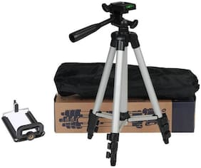 Akribos XXIV Tripod-3110 Portable Adjustable Aluminum Lightweight Camera Stand With Three-Dimensional Head