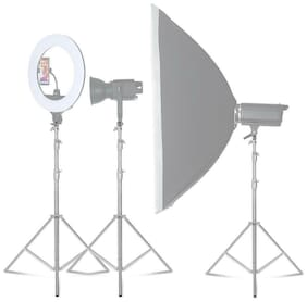 Aluminum Light Photography Tripod Stand Light Stand for Reflectors Lights Sliver