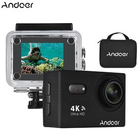 Andoer AN9000 4K 16MP WiFi Action Sports Camera 1080P FHD 5.08 cm (2 inch) Touchscreen 170 Wide Angle Lens with Hard Case Support 4X Zoom Waterproof 40m