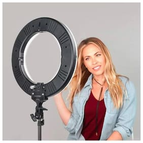 ARHUB 10.2 inch Big Selfie Ring Light with Extendable Tripod Stand & Flexible Phone Holder for Makeup  Desktop Led Camera