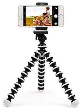 Arhub fully Flexible Portable & Foldable Camera & Mobile Octopus Gorilla  Tripod With Mobile Clip Holder