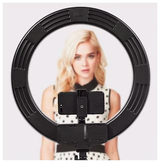 ARHUB Professional BIG 10 inch Selfie Ring Light with Extendable Tripod Stand & Flexible Phone Holder for Live Stream