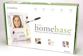 "Audiovox Homebase Voice Message Recorder with 7"" Digital Picture Frame  ~ NEW"