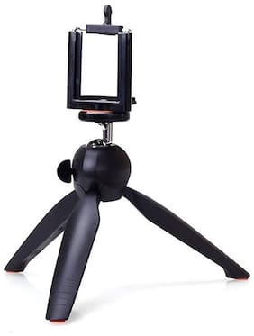 AviListo YT-228 Mini Tripod Stand With Mobile Mount Clip for Digital Camera, DSLR, iPhone & Android Smartphones