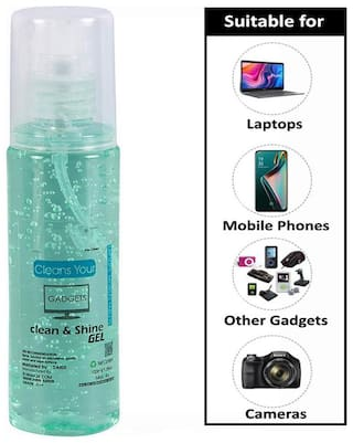 AZANIA Screen Cleaner Kit 100 ml for LED and LCD TV, Computer Monitor, Laptop, and iPad Screens Cleaning Kit