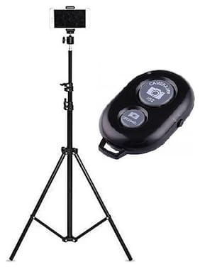 Backlund 7 Feet Big Tripod Stand for Mobile and Camera Adjustable Aluminium Alloy Big Tripod Stand Holder,Photo/Video Shoot & Selfie Remote Bluetooth Compatible with All Smartphones & Tablets
