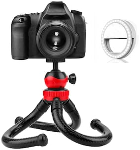 ACCESORIES LEGACY  Camera Flexible Tripod with light Compatible for DSLR & Mirrorless Camera