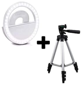 Backlund Selfie Ring Light for Mobile Cellphone Camera with 36 LED Lights for Night Darkness Selfies with 3110 3-Dimensional Head Foldable Camera Tripod Stand & Mobile Clip Holder for Tiktok Video