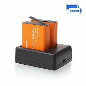 Battery Chargers Camera 2 batteries 1350mah High capacity Multiple Charge Ways
