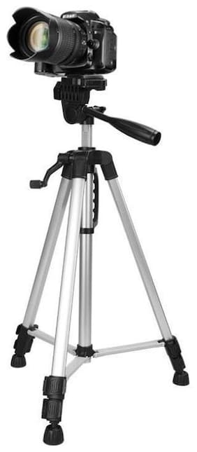 Benison India lightweight black tripod for camera and video made of aluminium alloy