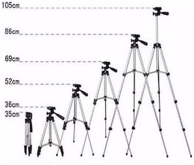 Best Quality   105Cm Lightweight Tripod with Bag & Phone Mount Holder