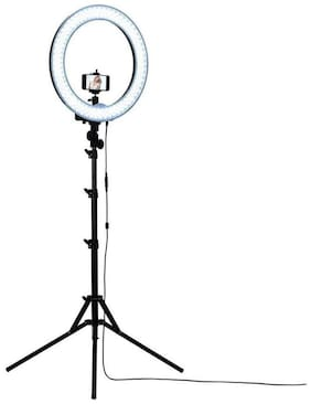 Big LED Ring Light for Camera Smartphone Video Shooting and Makeup, Stand and Light with Stand