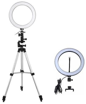 Big LED Selfie Ring Light with 3110 Tripod for Camera Smartphone to Capture Photo and Video with 3 Mode Light
