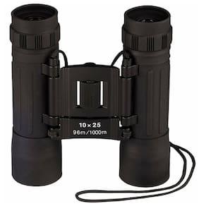 Binoculars Compact 10 X 25mm Binoculars - Black Rubber 10285 Rothco