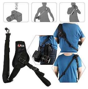 Black Quick Rapid Single Shoulder Sling Belt Strap for DSLR Digital SLR Camera
