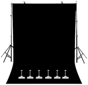 WINDROP SOLUTIONS Black Screen Background Photo Video Studio Back Drop 8 x 12 ft for Indoor-Outdoor Online Classes YouTube Videos Made in India
