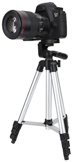 Bluebells India 3110 Tripod Stand for Phone and Camera Adjustable Aluminium Alloy Tripod Stand Holder for Mobile Phones & Camera,Photo/Video Shoo