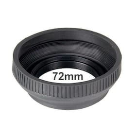 Bower 72mm Collapsible Rubber Lens Hood (Black)