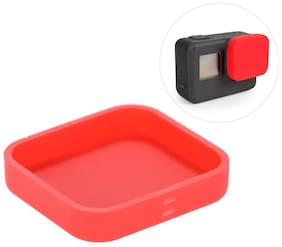 Brain Freezer Soft Silicon Protective Lens Cap Cover for GoPro Hero 5 Action Camera (Red)