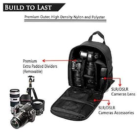 Brain Freezer J Camera Shoulder Backpack for DSLR (Black)