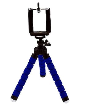 BTK Trade Flexible Non Extentable 6 inch Tripod Stand for Mobile, GoPro (Blue)