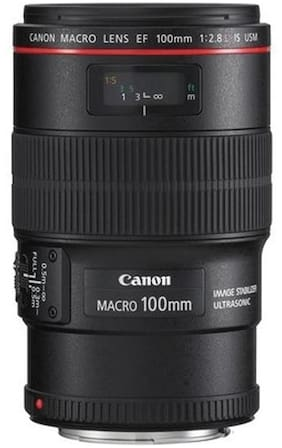 Canon EF 100 mm f/2.8L Macro IS USM Lens (Black)