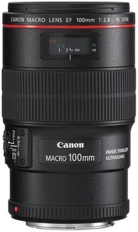 Canon EF 100 mm f/2.8L Macro IS USM Lens  Black