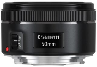Canon EF 50mm F/1.8 STM Lens (Black) For Canon DSLR Camera