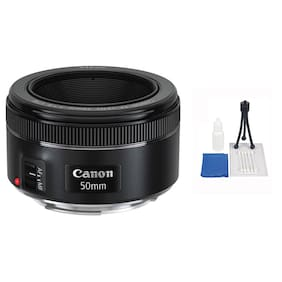 Canon EF 50mm f/1.8 STM AF Lens + 5 Pc Accessory Kit for EOS T7 T6i  SL1 6D 7D