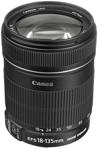 Canon EF-S 18 - 135 mm f/3.5-5.6 IS Lens (Black)