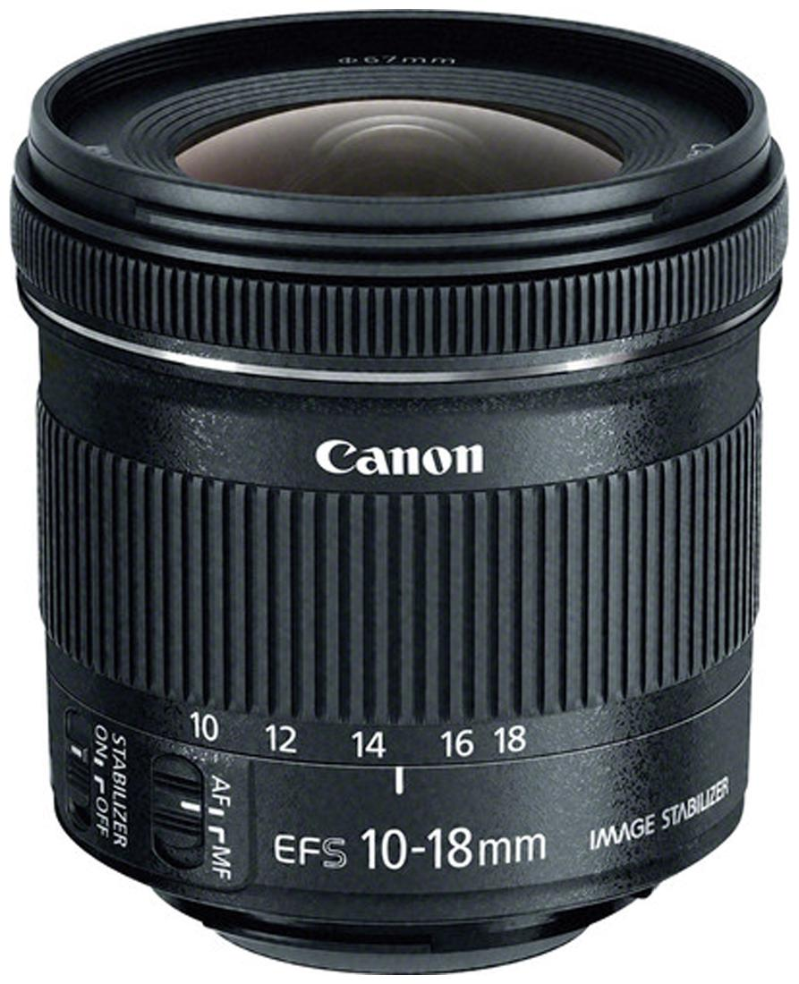 Canon EF S 10 18 mm f/4.5 5.6 IS STM Lens  Black  by Camera Stores