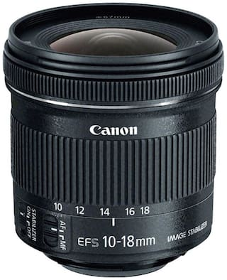 Canon EF-S 10-18 mm f/4.5-5.6 IS STM Lens (Black)